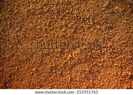 Red Soil (dirt) on earth. - stock photo