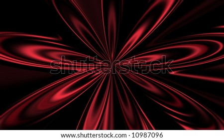 Red space explosion - stock photo