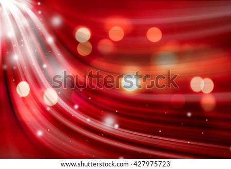Red sparkle twirl and glitter radial rays twinkled lights bokeh beautiful abstract background. - stock photo