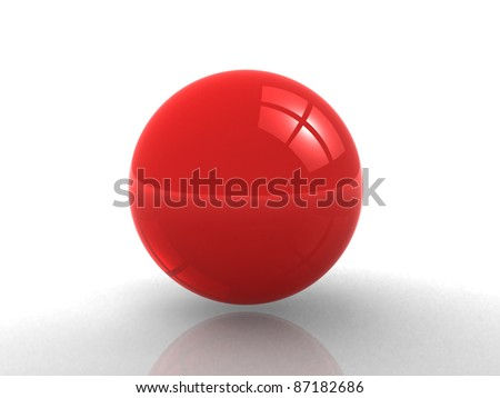 Red sphere. 3d render - stock photo