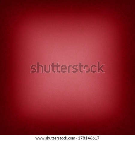 red square background black border or frame, smooth bright center texture and dark vignette edge, abstract red paper - stock photo