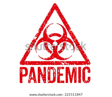 Red Stamp - Pandemic - stock photo