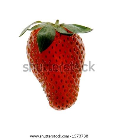 red strawberry - stock photo