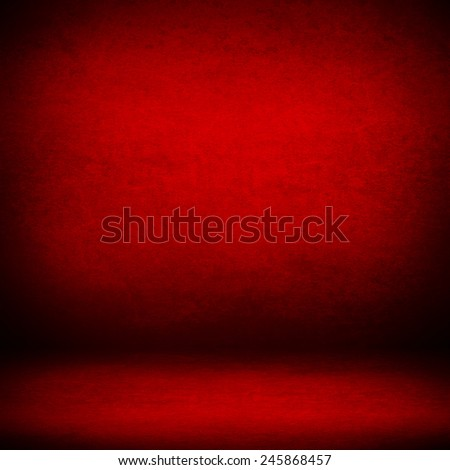 red suede background and beam of lights, empty room as grunge background texture - stock photo