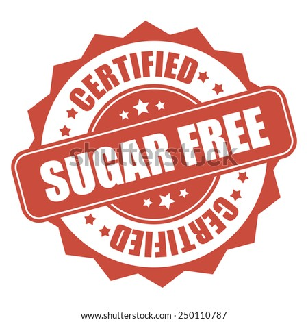 red sugar free certified icon, tag, label, badge, sign, sticker isolated on white - stock photo