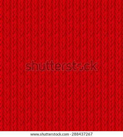Red Sweater Texture Background.  Illustration.  - stock photo