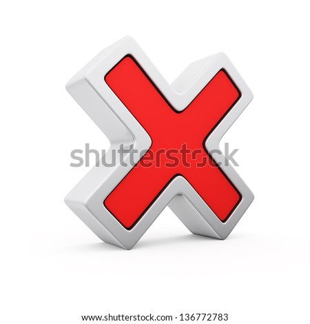 Red symbol of negative voting - stock photo