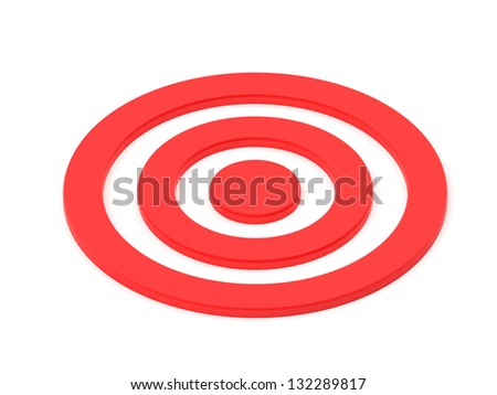 Red target isolated on white - stock photo