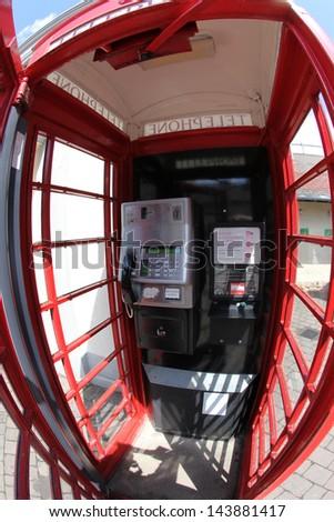 Red telephone box, London, UK - stock photo