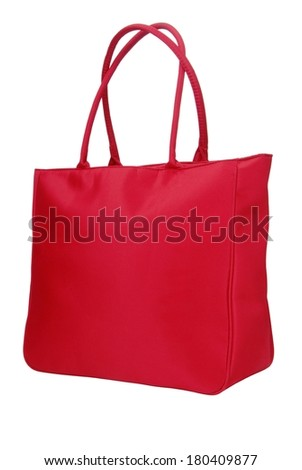 red textile  bag - stock photo