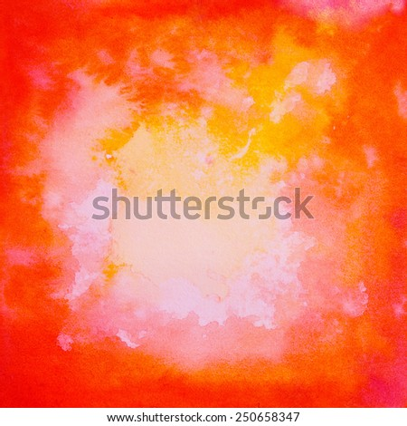 Red texture, background.Romantic watercolor square vintage backdrop. - stock photo
