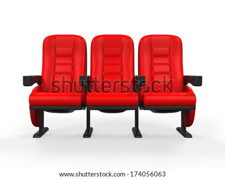 Red Theater Seat - stock photo
