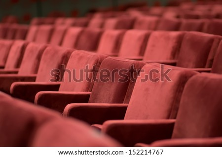 red theater seats - stock photo