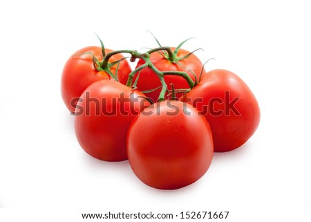 red tomato vegetable isolated on white background  - stock photo