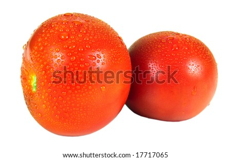 Red tomato very useful and tasty vegetable - stock photo