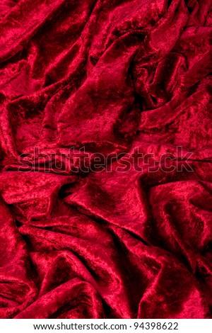 Red Velvet Background - stock photo
