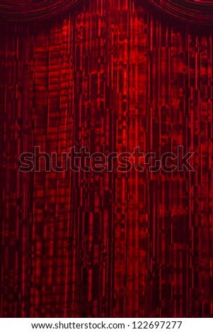 Red Velvet Stage Curtains - stock photo