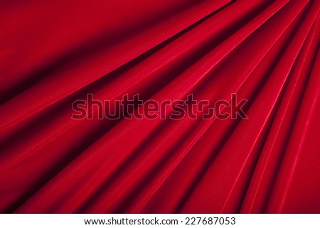 Red Velvet with Dramatic Lines - stock photo