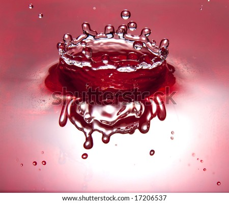 red water crown - stock photo
