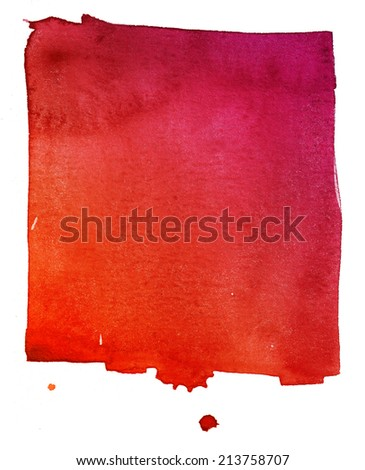 red watercolor background on textured paper - stock photo