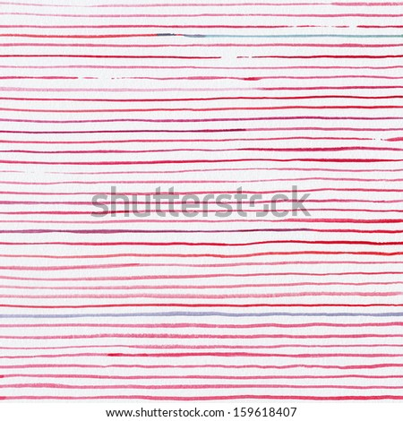 Red watercolor striped background  - stock photo