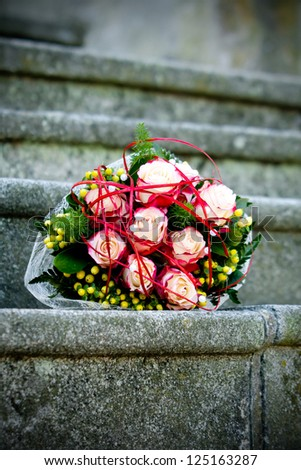 red wedding flower - stock photo