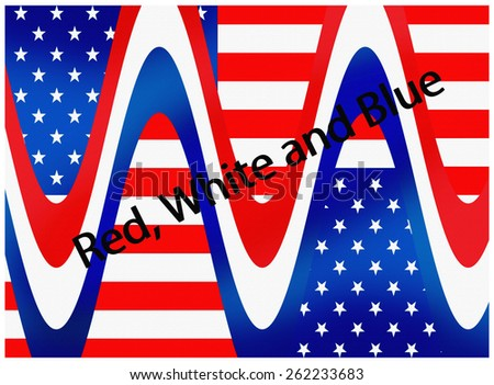 Red, White and Blue - stock photo