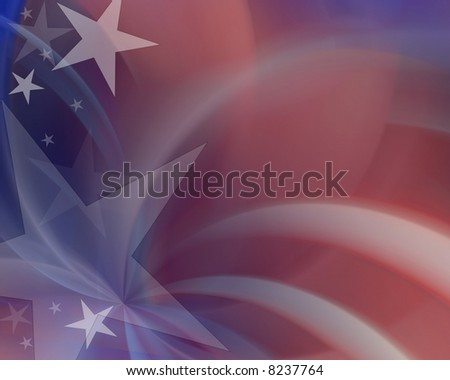 Red white & blue abstract background - stock photo