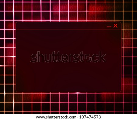Red Window Technology Concept Background - stock photo
