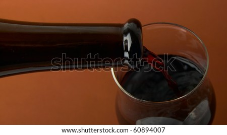 red wine glass in studio - stock photo