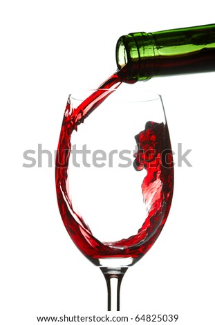 Red wine splashing - stock photo