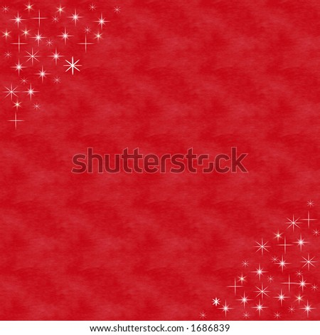 Red with stars - stock photo