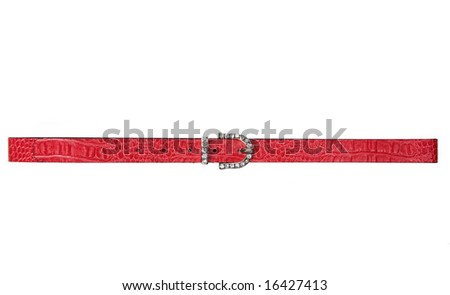 red woman belt - stock photo