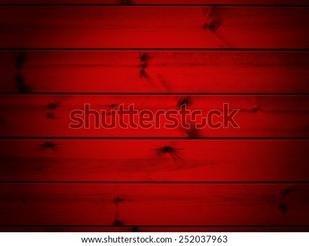 Red wood background with horizontal panels - stock photo