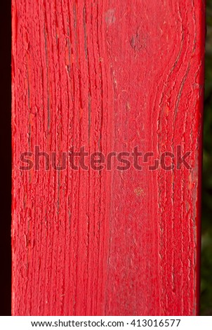 Red wooden old plank background. - stock photo