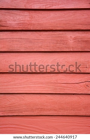 Red wooden wall pattern background. - stock photo