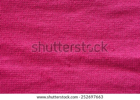 red woolen texture - stock photo