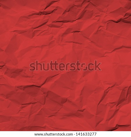 red wrinkled paper - stock photo