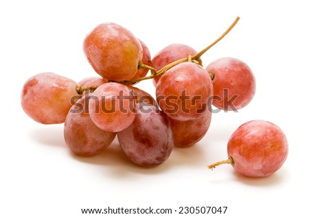 Red Yaquti Grapes on isolated white Background  - stock photo