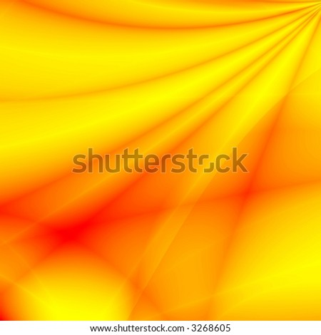 Red-yellow fantasy rays - stock photo