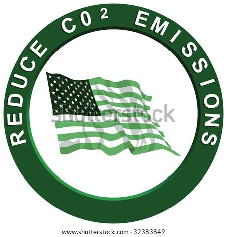 Reduce Carbon Emissions America - stock photo