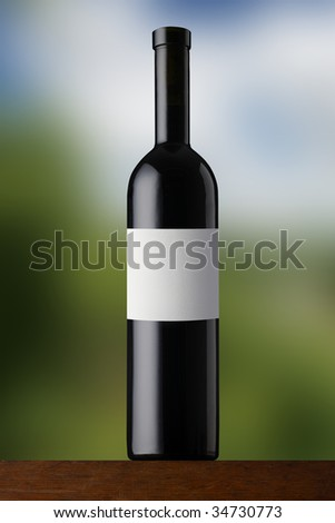 Redwine on soft background - stock photo