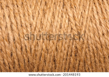 reel of rope background texture - stock photo