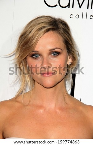 "Reese Witherspoon at the Elle 20th Annual ""Women In Hollywood"" Event, Four Seasons Hotel, beverly Hills, CA 10-21-13 - stock photo"