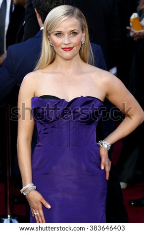 Reese Witherspoon at the 88th Annual Academy Awards held at the Hollywood & Highland Center in Hollywood, USA on February 28, 2016. - stock photo