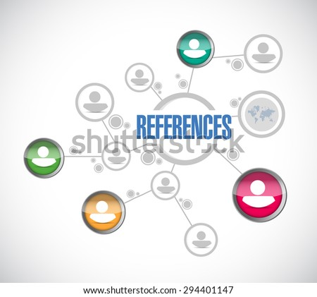 references people diagram sign concept illustration design graphic - stock photo