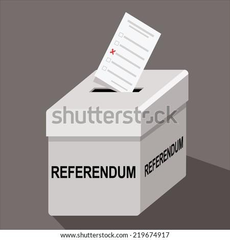 referendum ballot box - stock photo