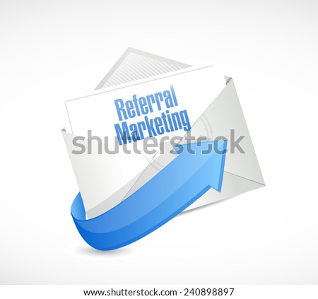 referral marketing email illustration design over a white background - stock photo