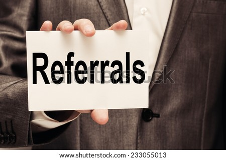 Referrals Concept  - stock photo