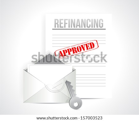 refinancing approved concept illustration design over a white background - stock photo